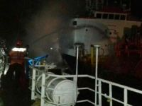 LPG carrier Amelia 1 caught fire at Makassar Anchorage in Indonesia