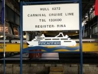 Fincantieri Cuts Steel for Carnival's Third Vista Cruise Ship