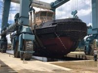 Horizon Shipbuilding launches new tug for McAllister Towing