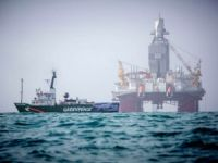 Greenpeace Activists Protest Near Statoil Drilling Rig in Barents Sea