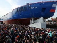 "The first in a series of nuclear icebreaker ""Siberia"" launched in St. Petersburg"