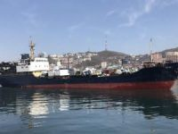 Ship with Russian Crew Thrown Ashore in the Japanese Port of Toyama