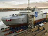 Canada's First Arctic and Offshore Patrol Ship Assembled