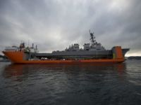 Damaged USS Fitzgerald Departs Japan Aboard Heavy Lift Vessel
