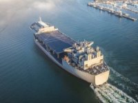 "NASSCO Delivers 'Floating Sea Base' USNS Hershel ""Woody"" Williams to U.S. Navy"