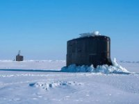 U.S. Navy Submarines Surface in the Arctic Circle