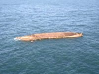 Cargo Ship Turned Over and Adrift in English Channel After Collision