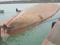 Two Days After Collision, Capsized Cargo Ship Arrives Pier Side in Le Havre