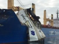 Incident Photos: Containership and Bulk Carrier Collide in Denmark's Great Belt