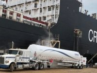 Crowley's First LNG-Powered ConRo Fuels Up at VT Halter Marine