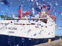 RMS St Helena Converted to Floating Armory