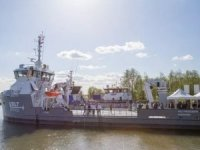 Damen Displays its First Completed UV 4312 Fish Farm Support Vessel