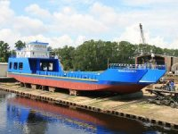 St. Johns Ship Building launches first of two Fisher Island ferries