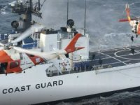 US Coast Guard Medevacs Mariner near Sabine, Texas