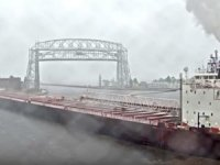 1,000-Foot Laker 'American Spirit' Runs Aground in Duluth Harbor