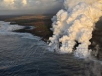 Lava Bomb Hits Tourist Boat