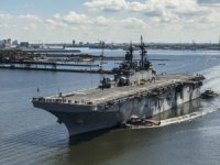 USS Wasp Trials New Aircraft Landing System
