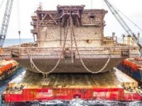DB1 Barge Raised in Record Salvage Lift