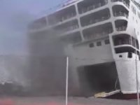 Fire-Damaged Greek Ferry Towed to Shipyard for Repair