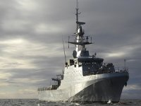 The Royal Navy Patrol Ship Escorted Russian Frigate
