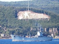 Russian Frigate 'Orsk' Passed Through the Dardanelles Strait