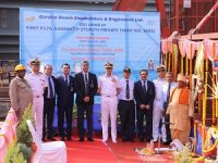 GRSE Lays Keel of New Stealth Frigate for Indian Navy