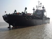 Hopper Dredger Aground off India
