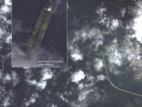 SATELLITE IMAGES SHOW IRAN OIL TANKER SOUGHT BY US OFF SYRIA