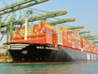 MSC giant vessel calls at Singapore