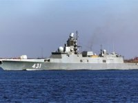 Russian Navy Admiral Kasatonov frigate continues trials in Barents Sea