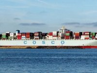 Cosco Boxship Hit by a Fire
