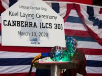 Australian minister laid keel for US Navy's new littoral combat ship
