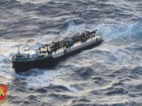 Tanker broke in two, sank or sinking, Mediterranean