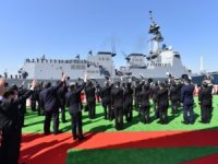 Japan welcomes lead Maya-class destroyer