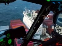 USCG Medevacs Crewman from Yang Ming Boxship