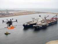World's largest construction vessel gets first-ever drone delivery