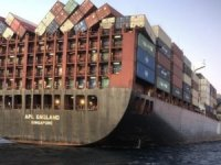 APL boxship loses about 40 containers in heavy weather