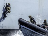 Photos: How the Royal Marines Board a Ship