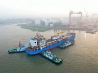 Singapore's first LNG bunkering vessel launched