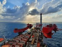 PHOTO: Allseas vessel up and running on Karish pipeline offshore Israel