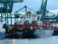 MSC container vessel lost more than 20 boxes in Algoa Bay