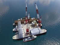 Windthrust unveils floating port and installation vessel for offshore wind farms