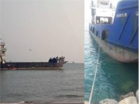 A landing craft ship capsized in southeast of Larak in  persian gulf