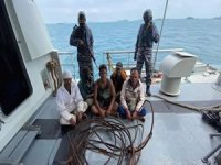 Indonesian Navy Catches Five Pirates in the Act of Raiding a Barge