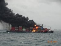 Containers tumble into sea as fire-stricken X-Press Pearl lists starboard