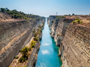 """Bremer"" passes through the Corinth Canal in Greece"