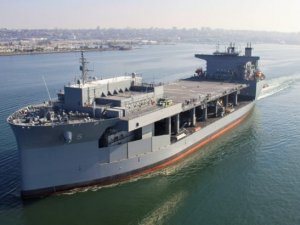 U.S. Navys Newest Expeditionary Mobile Base Vessel Christened In San Diego...